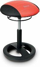 Topstar Tabouret Sitness RS Bob, noir/rouge