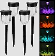 Torche solaire jardin lumière RGB, Lampe LED