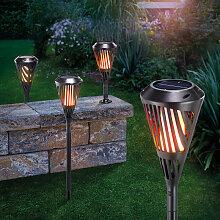 Torche solaire lot de 4 torche de jardin effet