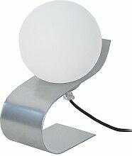 Tosel 60455 Lampe de Table Snake Acier/Abat-Jour