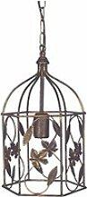 Tosel-cage - suspension acier marron 1xe27 -