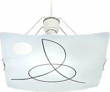 Tosel-maelle - suspension plastique et acier blanc