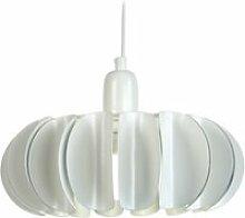 Tosel-tiago - suspension plastique blanc 1xe27 -