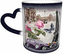 Tour de Paris papillon magique tasse changeante de