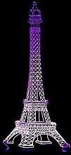Tour Eiffel 3D Night Light LED Télécommande