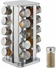 Tourniquet à épices, avec 20 Pots, étagère