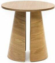 Tousmesmeubles Table d'appoint ronde Bois -