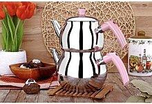 Tout la maison Viola Mini théière rose thé turc