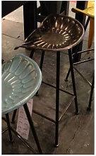 TRACTEUR - Tabouret de bar industriel en acier