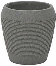 Tramontina Eggipcio Cache-Pot en Plastique Gris Ø