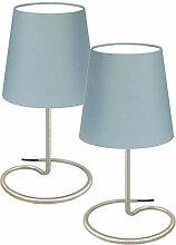Trango 2 pack Lampe de table, lampe de chevet,