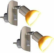 Trango Pack de 2 Lampe LED plug TG11-242 en acier