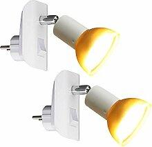 Trango Pack de 2 Prise LED TG11-246 en blanc avec