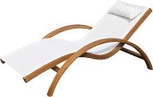 Transat chaise longue design style tropical bois