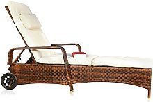 Transat, chaise longue en osier, meubles de jardin