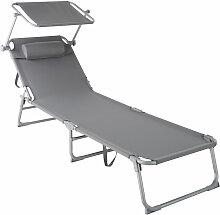 Transat CHLOE - chaise longue, bain de soleil,