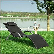 Transat de Jardin Chaise Longue Bain de Soleil -