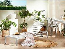 Transat de jardin en aluminium et bois composite