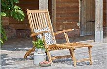 Transat en bois d'acacia - Flexifolia