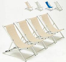 Transats de plage chaises pliantes jardin piscine