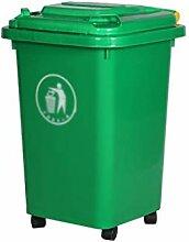 Trash Cans AOYANQI-Poubelles Poubelle à Roues,