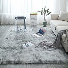 Treer Tapis Salon Shaggy Poil Long, Lavable Design