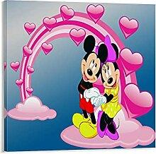 Trelemek Décoration murale Mickey Minnie Mouse