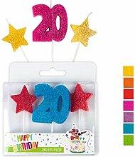 Trendhaus Bougie d'anniversaire Chiffre 20