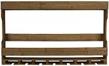 TRES - Etagere Bouteilles et verres en bois et