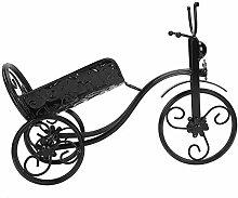 Tricycle forme fer casier à vin étagère à vin