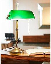 Trikonzept Lampe de banquier en laiton