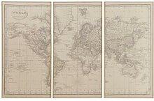 Triptyque carte du monde 159x101