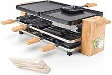 Tristar Appareil à raclette en bambou pour 8