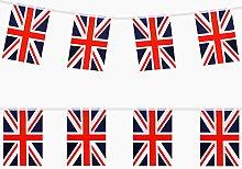 TRIXES Guirlande de 9 Mètres Drapeau Britannique