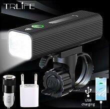 TRLIFE – phare de vélo as 3200 Lumens 1000 mAh,