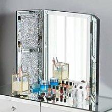 Trois Miroirs de Coiffeuse en Verre pour Chambre,