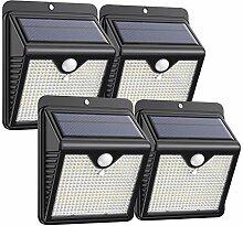 Trswyop Lampe Solaire Extérieur 4 Pack 150 Led,