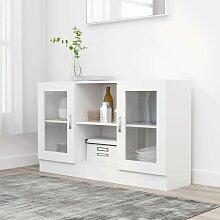 True Deal - Armoire à vitrine Blanc 120x30,5x70