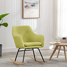 True Deal - Chaise à bascule Vert Tissu