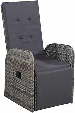 True Deal - Chaise inclinable de jardin et coussin