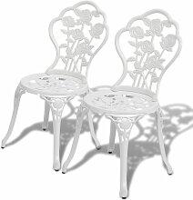 True Deal - Chaises de bistro 2 pcs Aluminium