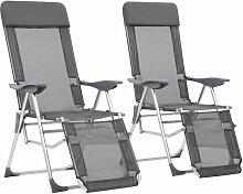 True Deal - Chaises de camping pliables 2 pcs et