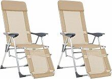 True Deal - Chaises de camping pliables 2pcs et