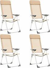 True Deal - Chaises de camping pliables 4 pcs