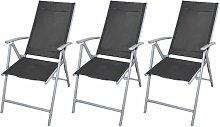 True Deal - Chaises de jardin pliables 3 pcs