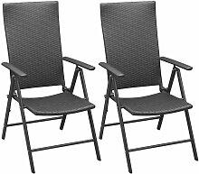 True Deal - Chaises empilables de jardin 2 pcs