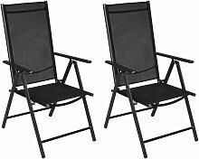 True Deal - Chaises pliables de jardin 2 pcs