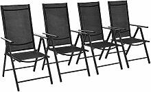 True Deal - Chaises pliables de jardin 4 pcs