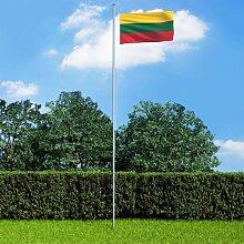 True Deal - Drapeau Lituanie et mât en aluminium