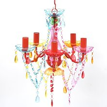 True Deal - Lustre en cristal multicolore